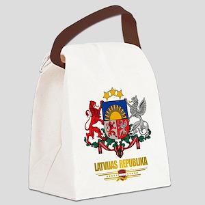 Latvia COA (Flag 10)2 Canvas Lunch Bag