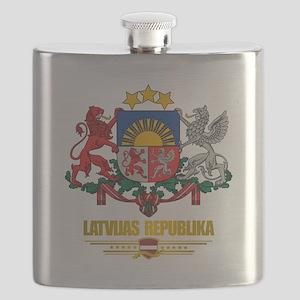 Latvia COA (Flag 10)2 Flask