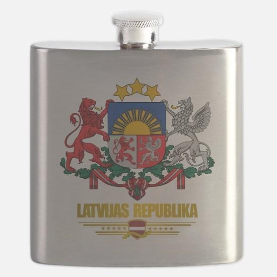 Latvia COA (Flag 10)2.png Flask