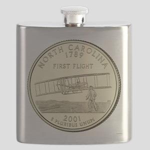 North Carolina Quarter 2001 Basic Flask
