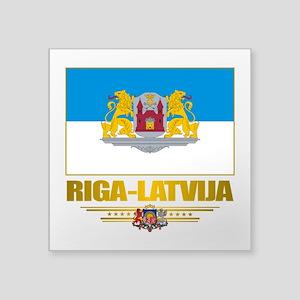 """Riga (Flag 10)2 Square Sticker 3"""" x 3"""""""
