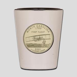 North Carolina Quarter 2001 Basic Shot Glass