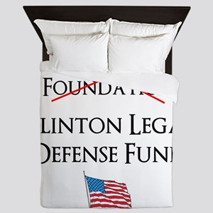 Clinton Legal Defense Fund Queen Duvet