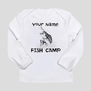 Personlize Fish Camp Long Sleeve Infant T-Shirt