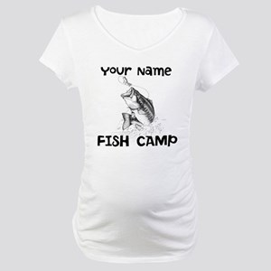 Personlize Fish Camp Maternity T-Shirt