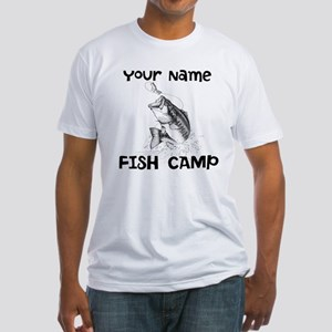 Personlize Fish Camp Fitted T-Shirt