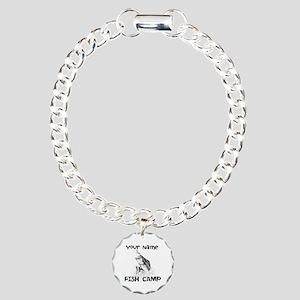 Personlize Fish Camp Charm Bracelet, One Charm