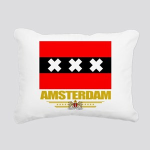 Amsterdam (Flag 10) Rectangular Canvas Pillow