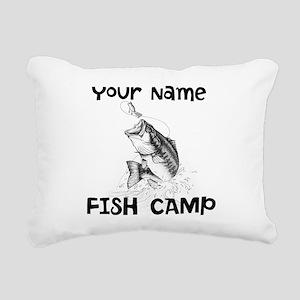 Personlize Fish Camp Rectangular Canvas Pillow