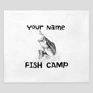 Personlize Fish Camp King Duvet