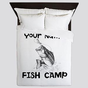 Personlize Fish Camp Queen Duvet