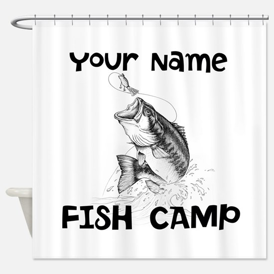 Personlize Fish Camp Shower Curtain