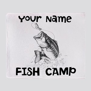 Personlize Fish Camp Throw Blanket