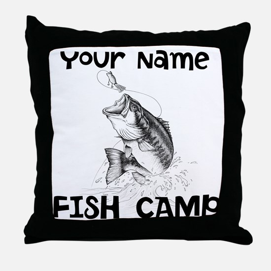 Personlize Fish Camp Throw Pillow