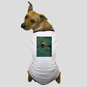 creepy halloween owl Dog T-Shirt