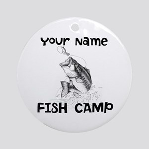 Personlize Fish Camp Ornament (Round)