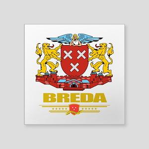 "Breda (Flag 10) Square Sticker 3"" x 3"""
