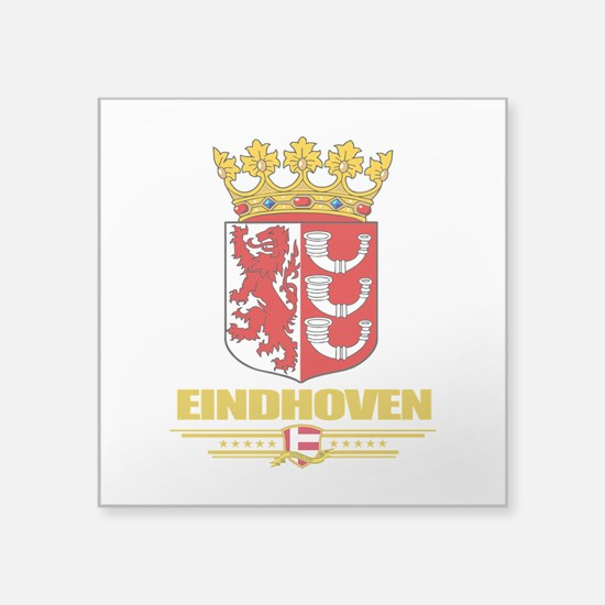 "Eindhoven (Flag 10).png Square Sticker 3"" x 3"""
