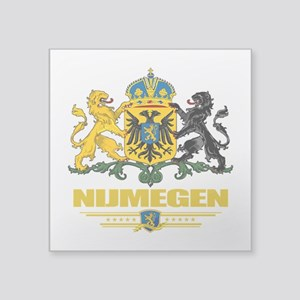 "Nijmegen (Flag 10) Square Sticker 3"" x 3"""