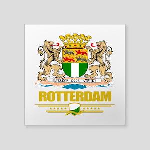 """Rotterdam (Flag 10) Square Sticker 3"""" x 3"""""""