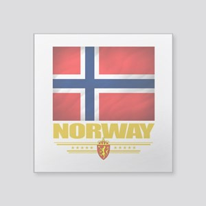 "Norway2 (Flag 10) Square Sticker 3"" x 3"""