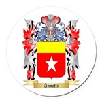 Annetts Round Car Magnet