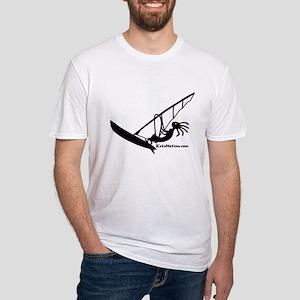Kokopelli Windsurfer Fitted T-Shirt