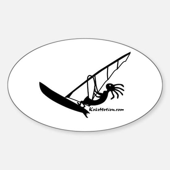 Kokopelli Windsurfer Oval Decal