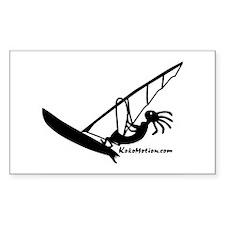 Kokopelli Windsurfer Rectangle Sticker