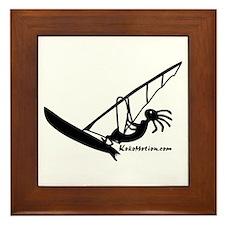 Kokopelli Windsurfer Framed Tile