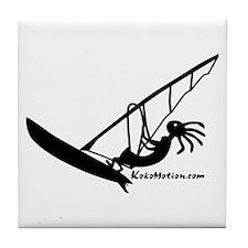 Kokopelli Windsurfer Tile Coaster