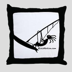 Kokopelli Windsurfer Throw Pillow
