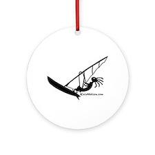 Kokopelli Windsurfer Ornament (Round)
