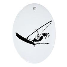 Kokopelli Windsurfer Oval Ornament
