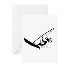 Kokopelli Windsurfer Greeting Cards (Pk of 10)