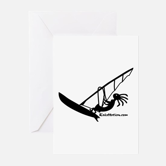 Kokopelli Windsurfer Greeting Cards (Pk of 10)