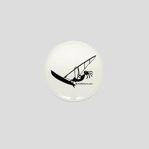 Kokopelli Windsurfer Mini Button