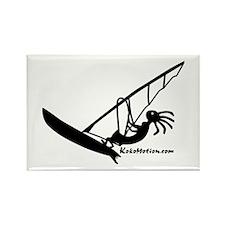 Kokopelli Windsurfer Rectangle Magnet (100 pack)