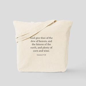 Genesis 27:28 Tote Bag