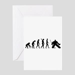 Evolution hockey goalie Greeting Card