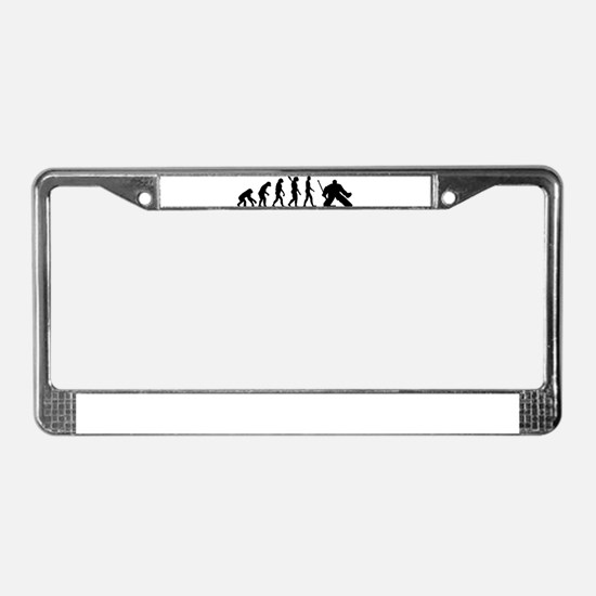 Evolution hockey goalie License Plate Frame