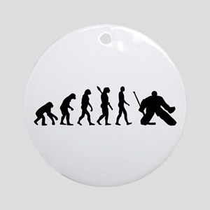 Evolution hockey goalie Ornament (Round)