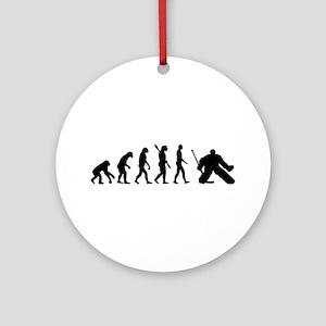 Evolution hockey goalie Ornament (Round)