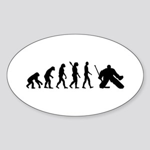 Evolution hockey goalie Sticker (Oval)
