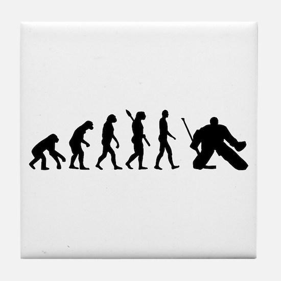 Evolution hockey goalie Tile Coaster