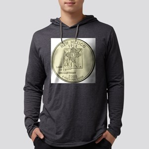 New Mexico Quarter 2008 Basic Mens Hooded Shirt