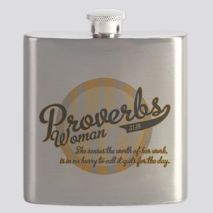 Proverbs Woman Flask
