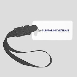 Submarine Veteran Dolphins Small Luggage Tag