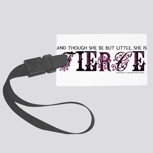 She is Fierce - Eclectic Large Luggage Tag
