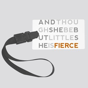 She is Fierce - Block Large Luggage Tag